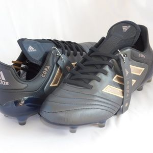adidas Copa 17.1 FG Black Leather Soccer Cleats
